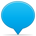 Social-balloon-color-blue icon