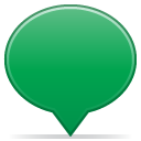 Social balloon color green icon