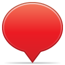 Social balloon color red icon