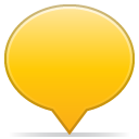 Social balloon color yellow icon