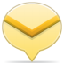 Social-balloon-mail icon