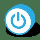 Button round power icon
