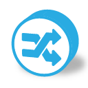 Button round random icon