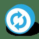 Button round reload icon