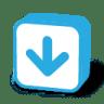 Button-arrow-down icon