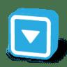 Button-dark-arrow-down icon