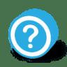 Button-round-dark-question icon