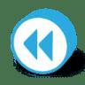 Button-round-fast-backward icon