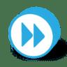 Button-round-fast-forward icon