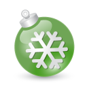 Xmas ball green icon