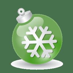 Xmas ball green icon