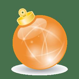 Xmas ball orange icon