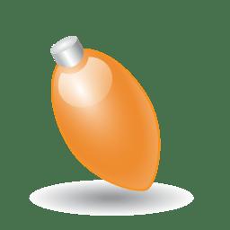 Xmas light orange icon
