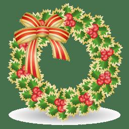 Xmas wreath icon