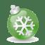 Xmas-ball-green icon