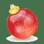 Xmas-ball-red icon