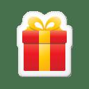 Xmas sticker gift icon