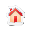 Xmas-sticker-home icon