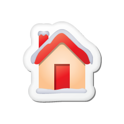 Xmas sticker home icon