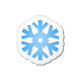 Xmas sticker snowflake icon