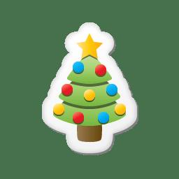 Xmas sticker tree icon