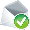 Mail accept icon