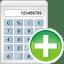 Calculator-add icon