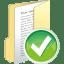 Folder-full-accept icon