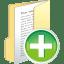 Folder-full-add icon