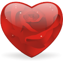 Rosy-heart icon