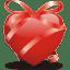 Ribbon-heart icon