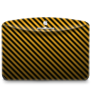 Folder Pattern Stripes Warning icon