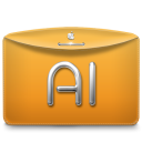 Folder Text Adobe Illustrator icon