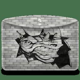 Folder Graffiti Rhino icon