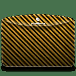 Folder Pattern Stripes Warning icon