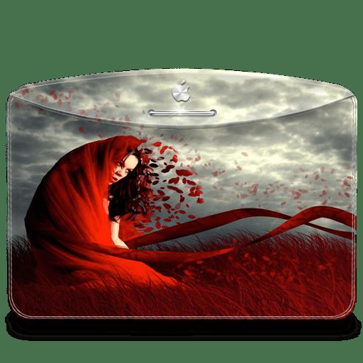 Folder-Girl-Red icon