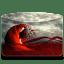 Folder Girl Red icon