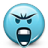 Emoticon Mad Screaming icon