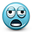 Emoticon Crazy Overworked Paranoid Tired icon