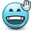 Emoticon Hello Waving Greeting icon