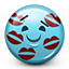 Emoticon Kiss Marks Kissed icon
