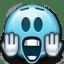 Emoticon Scared Shocked icon