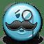 Emoticon Sir Elegant Moustache icon