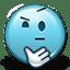 Emoticon Thinking Confused Shrug icon