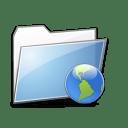 Folder Internet copy icon