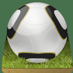 Soccer ball grass icon