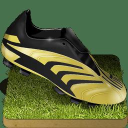 Soccer shoe grass icon
