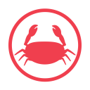 Crustacens-allergy-red icon