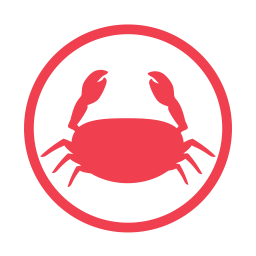 Crustacens allergy red icon