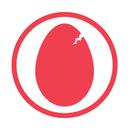 Eggs allergy red icon
